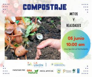 Charla Mitos y Realidades del Compostaje celembrando el Día Mundial del Ambiente impartida por Oswaldo Páez de OPA Natura