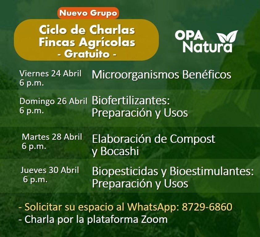 afiche de charlas para fincas agrícolas