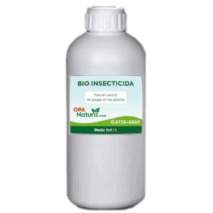 Bioinsecticida para el manejo de plagas en plantas: Botella