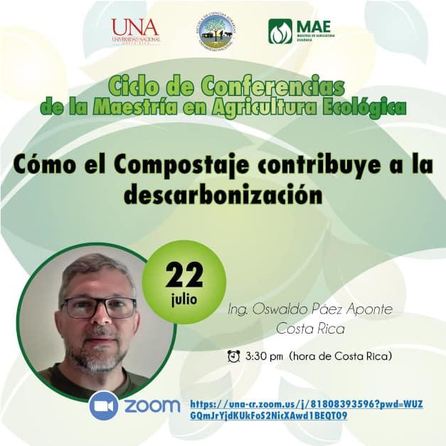 Anuncio de Conferencia Compostaje y Descarbonización