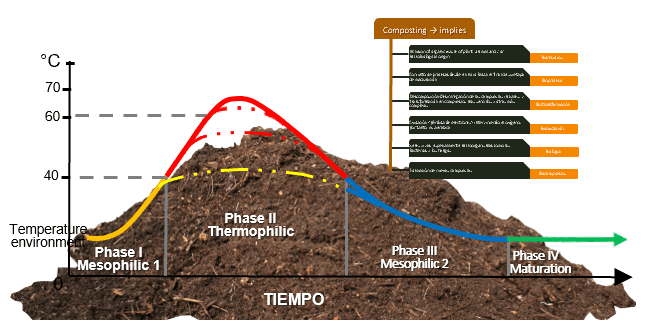 Chart and diagram on compost and composting